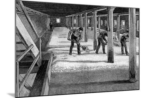 Malting Floor in an American Brewery, 1885--Mounted Giclee Print