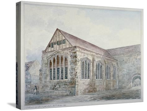 North-East View of Leadenhall Chapel, City of London, 1805--Stretched Canvas Print