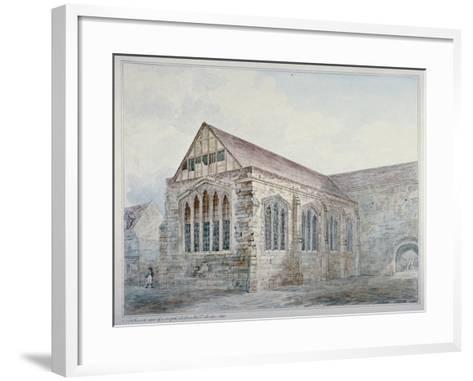 North-East View of Leadenhall Chapel, City of London, 1805--Framed Art Print