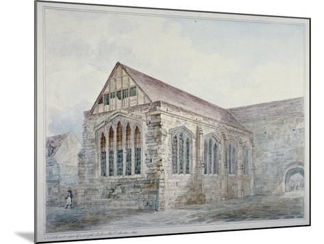 North-East View of Leadenhall Chapel, City of London, 1805--Mounted Giclee Print