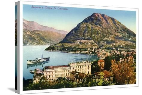 Lugano and Monte San Salvatore, Switzerland, 20th Century--Stretched Canvas Print