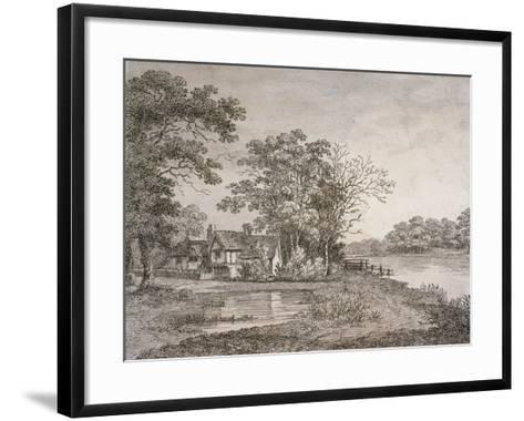 View of Cheesecake House in Hyde Park, London, 1795--Framed Art Print