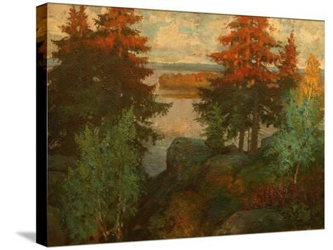 Autumn Landscape, 1920-Konstantin Ivanovich Gorbatov-Stretched Canvas Print