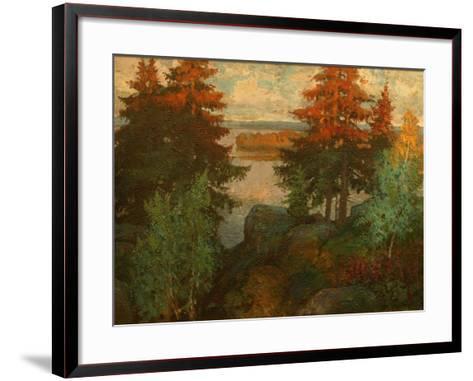 Autumn Landscape, 1920-Konstantin Ivanovich Gorbatov-Framed Art Print