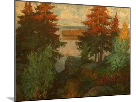 Autumn Landscape, 1920-Konstantin Ivanovich Gorbatov-Mounted Giclee Print