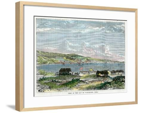 View of the Bay of Valparaiso, Chili, C1880--Framed Art Print
