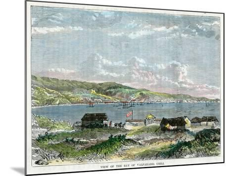 View of the Bay of Valparaiso, Chili, C1880--Mounted Giclee Print