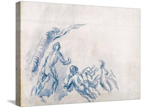 Bathers (Baigneuse), 1904-1906-Paul C?zanne-Stretched Canvas Print