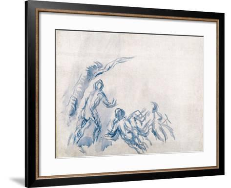 Bathers (Baigneuse), 1904-1906-Paul C?zanne-Framed Art Print