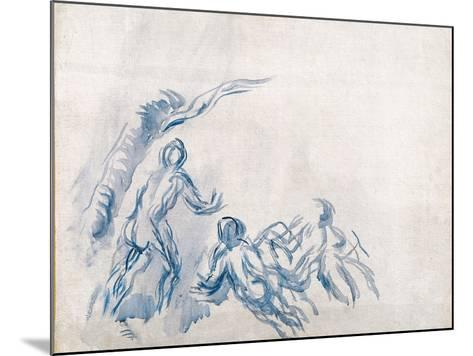 Bathers (Baigneuse), 1904-1906-Paul C?zanne-Mounted Giclee Print