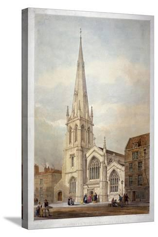 St Andrew's Church, Wells Street, Marylebone, London, C1846-Day & Haghe-Stretched Canvas Print