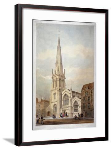 St Andrew's Church, Wells Street, Marylebone, London, C1846-Day & Haghe-Framed Art Print