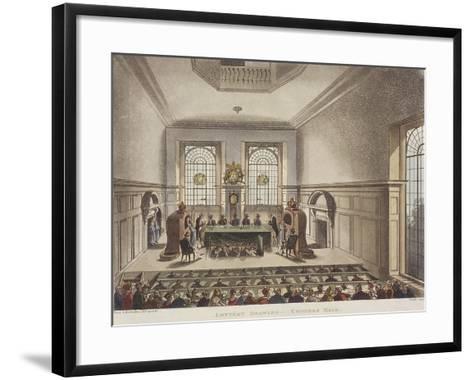 Apothecaries' Hall, London, C1780-John Carter-Framed Art Print