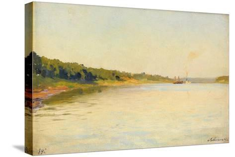 The Volga River Bank, 1889-Isaak Ilyich Levitan-Stretched Canvas Print