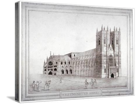Westminster Abbey from the North-West, London, 1805-Charles Middleton-Stretched Canvas Print