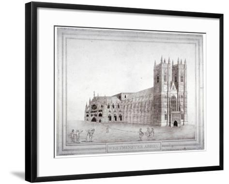Westminster Abbey from the North-West, London, 1805-Charles Middleton-Framed Art Print