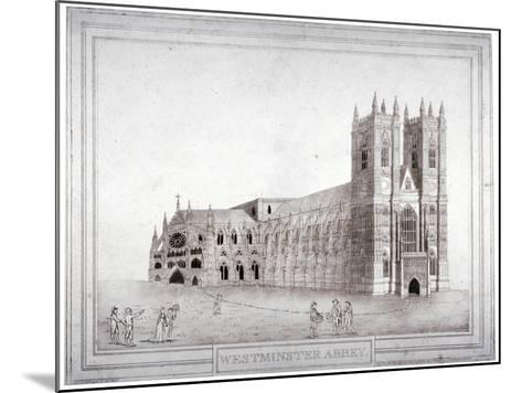 Westminster Abbey from the North-West, London, 1805-Charles Middleton-Mounted Giclee Print