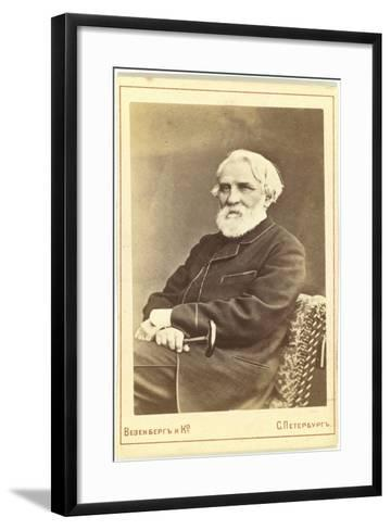 Portrait of the Author Ivan S. Turgenev (1818-188), Between 1880 and 1886--Framed Art Print