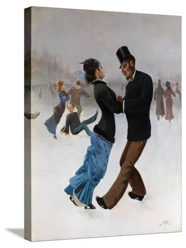 Ice Skaters, C. 1920-Max Klinger-Stretched Canvas Print