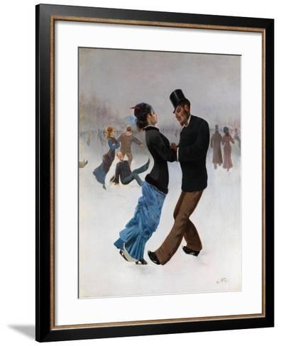 Ice Skaters, C. 1920-Max Klinger-Framed Art Print