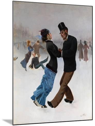 Ice Skaters, C. 1920-Max Klinger-Mounted Giclee Print