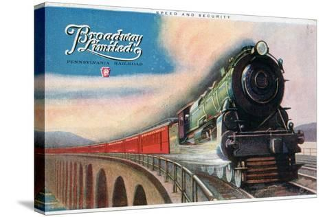 Broadway Limited, Pennsylvania Railroad, 1927--Stretched Canvas Print