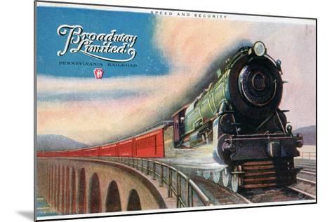 Broadway Limited, Pennsylvania Railroad, 1927--Mounted Giclee Print