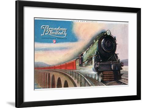 Broadway Limited, Pennsylvania Railroad, 1927--Framed Art Print