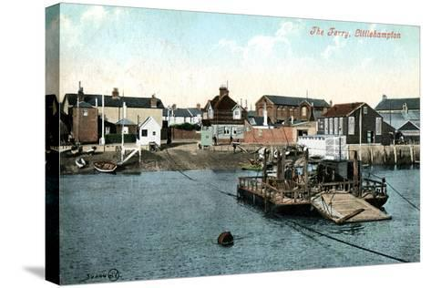 The Ferry at Littlehampton, West Sussex, 1907--Stretched Canvas Print