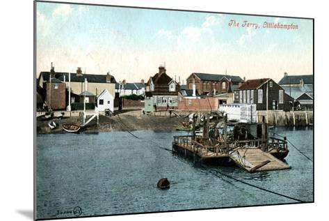 The Ferry at Littlehampton, West Sussex, 1907--Mounted Giclee Print