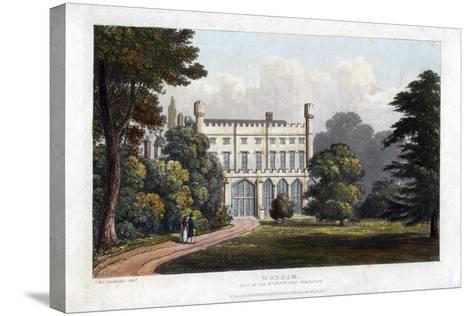 Wonham, Surrey, Seat of Lord Templeton, C1827-Frederick Wilton Litchfield Stockdale-Stretched Canvas Print