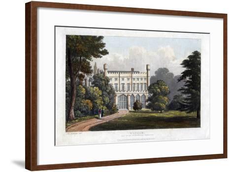 Wonham, Surrey, Seat of Lord Templeton, C1827-Frederick Wilton Litchfield Stockdale-Framed Art Print