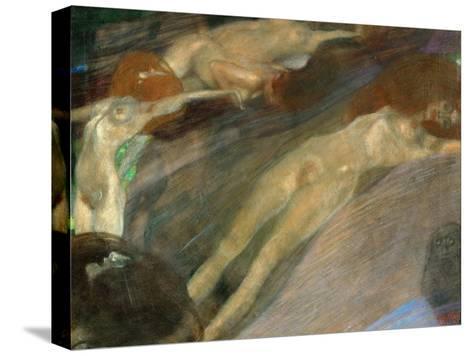 Moving Water, 1898-Gustav Klimt-Stretched Canvas Print