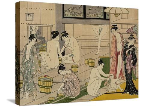 The Bathhouse Women, 1790S-Torii Kiyonaga-Stretched Canvas Print