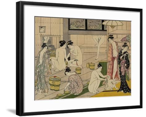 The Bathhouse Women, 1790S-Torii Kiyonaga-Framed Art Print