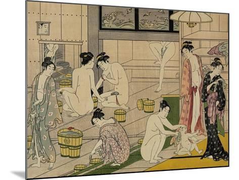 The Bathhouse Women, 1790S-Torii Kiyonaga-Mounted Giclee Print