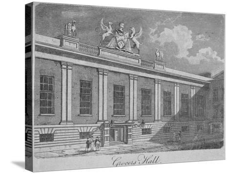 Front View of Grocers' Hall, City of London, 1812--Stretched Canvas Print