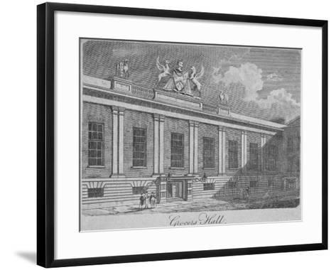 Front View of Grocers' Hall, City of London, 1812--Framed Art Print
