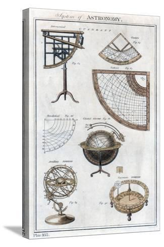 System of Astronomy, C1790--Stretched Canvas Print