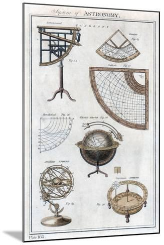 System of Astronomy, C1790--Mounted Giclee Print
