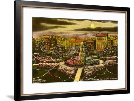 The Old Steine Gardens, Brighton, Sussex, C1940--Framed Art Print