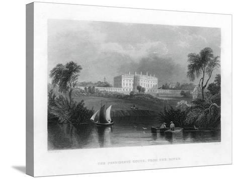 The Presidents House, from the River. C1820-1850--Stretched Canvas Print