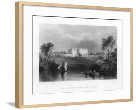 The Presidents House, from the River. C1820-1850--Framed Art Print