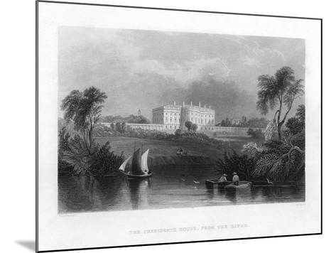 The Presidents House, from the River. C1820-1850--Mounted Giclee Print