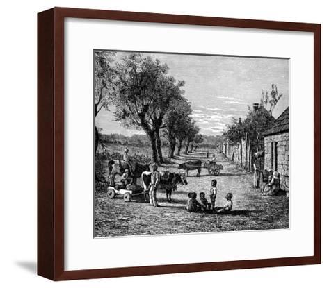Slave Quarters on a Plantation in Georgia, Usa--Framed Art Print