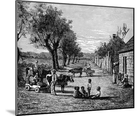 Slave Quarters on a Plantation in Georgia, Usa--Mounted Giclee Print