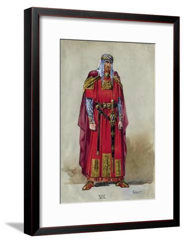 Medieval Prince. Costume Design-L?on Bakst-Framed Art Print