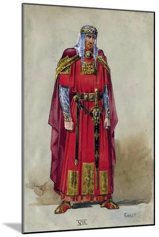 Medieval Prince. Costume Design-L?on Bakst-Mounted Giclee Print