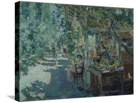 The Crimea, Fruit Store, 1913-Konstantin Alexeyevich Korovin-Stretched Canvas Print