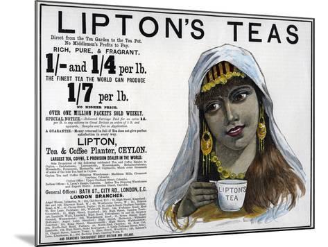 Lipton's Teas Advertisement, 1893--Mounted Giclee Print
